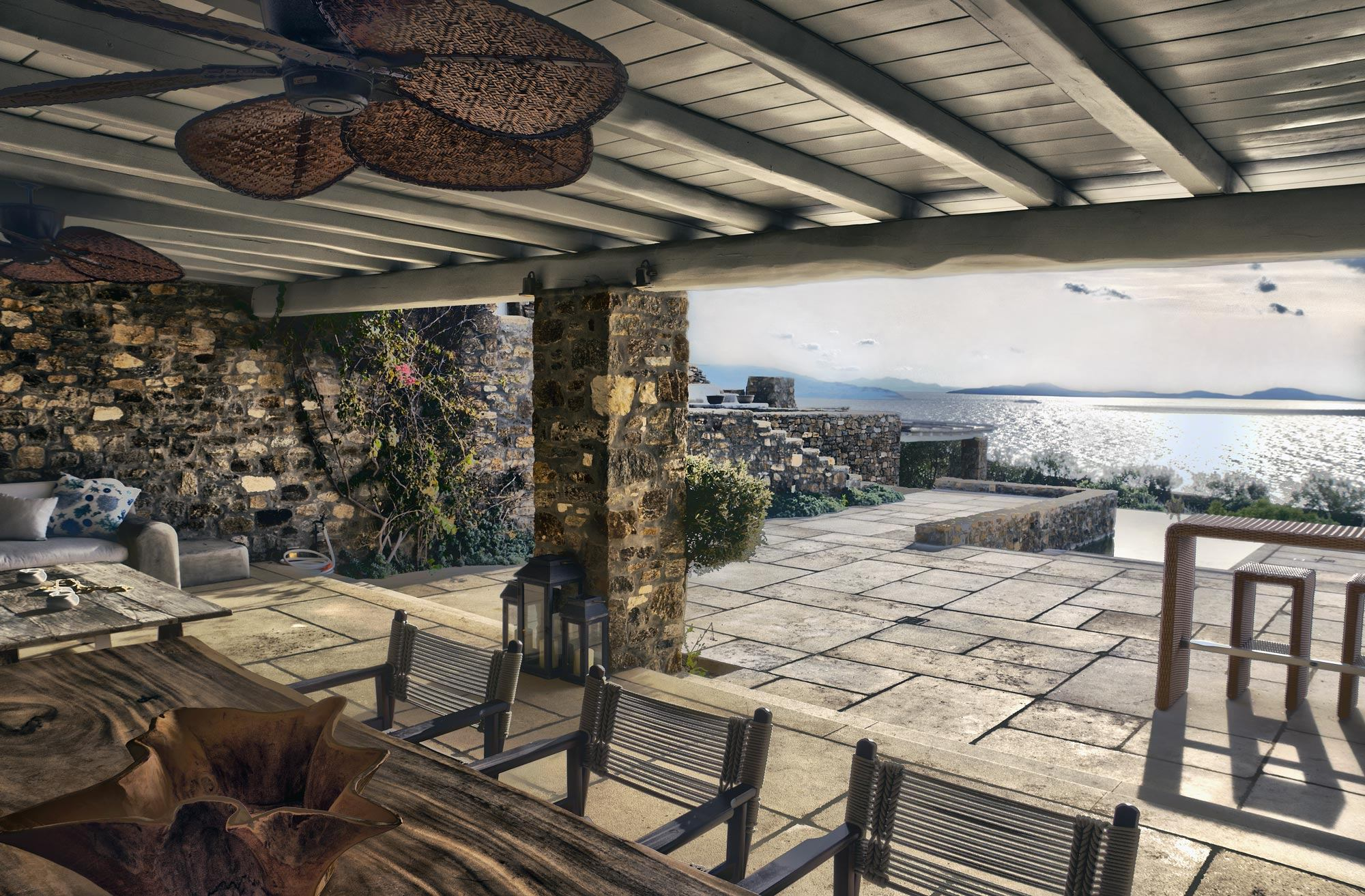 Villa on Mykonos Island